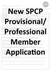 Application for Professional Membership