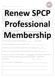 Application for Renewing Professional Membership